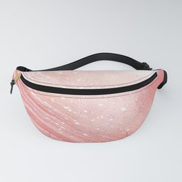 Coral Shimmer Summer Beach Day Fanny Pack