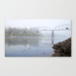 Flying Over The River Canvas Print