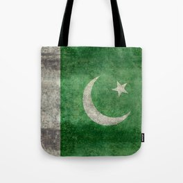 Flag of Pakistan, grungy retro style Tote Bag