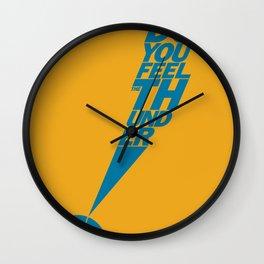 Do You Feel the Thunder? (Orange) Wall Clock