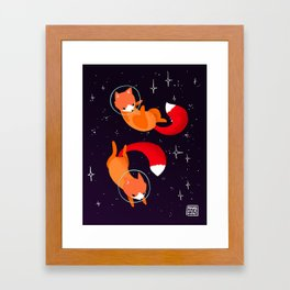Space Foxes Framed Art Print