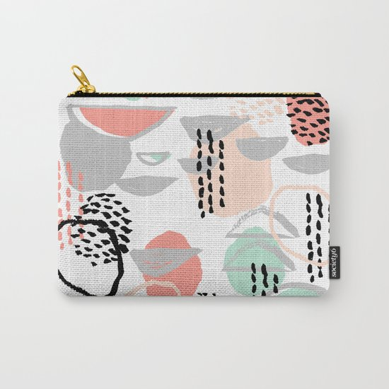 Callie - abstract minimal pastel art print texture ink hipster minimalist office or nursery Carry-All Pouch