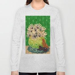 Chartreuse Vase drawing by Amanda Laurel Atkins Long Sleeve T-shirt