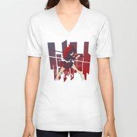 kill la kill V-neck T-shirts featuring Kill La Kill FANART by tsuzuku