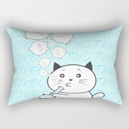 Smoke Cat not War Rectangular Pillow