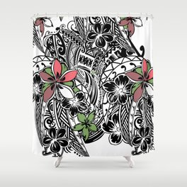 Polynesian Flora Touch Of Color Shower Curtain