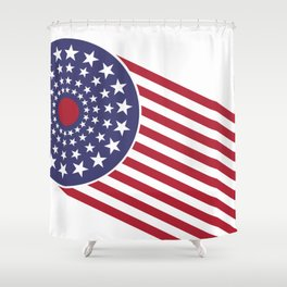 America, the shooting star. Shower Curtain