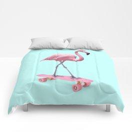 SKATE FLAMINGO Comforters