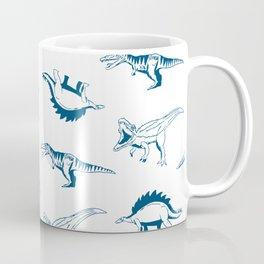 Blue Dino Stamp Coffee Mug