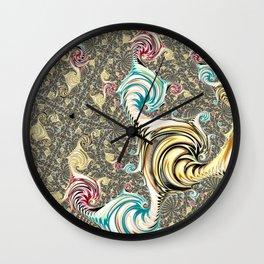 Incandescent Fractal Wall Clock