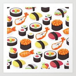 Sushi Pattern Art Print