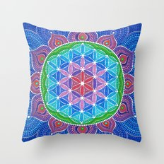 Lotus Flower of Life Throw Pillow