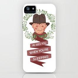 Freddy Krueger Christmas iPhone Case