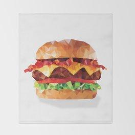 Geometric Bacon Cheeseburger Throw Blanket