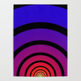 Blue, Red, and Yellow Circles Poster