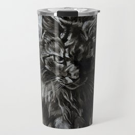 Main Coon Cat Comes For Dinner Travel Mug