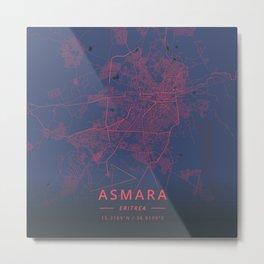 Asmara, Eritrea - Neon Metal Print
