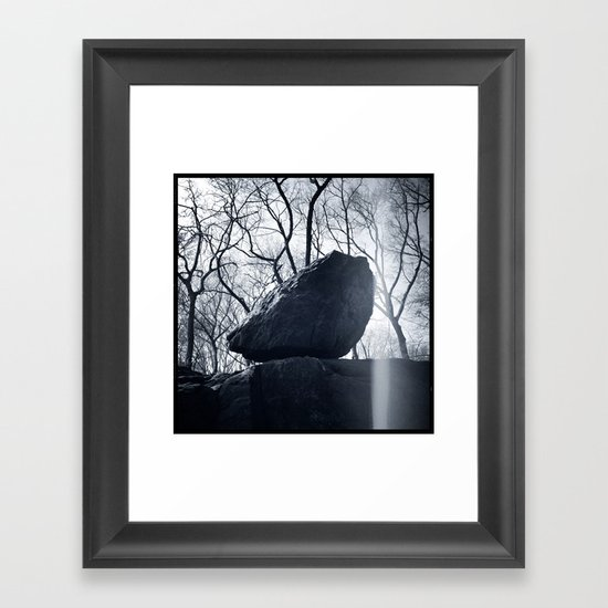 'CENTRAL PARK ROCK' Framed Art Print