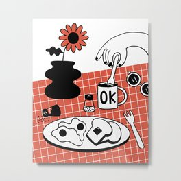 Weekend Brunch Metal Print