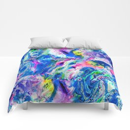 Bathbomb, fluid art, psychedelic art, trippy, psytrance, lsd, acid Comforters