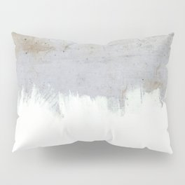 Painting on Raw Concrete Pillow Sham