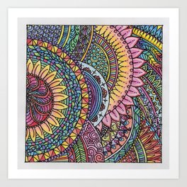 Overlap Art Print