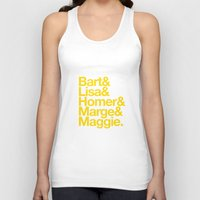 simpsons Tank Tops featuring Simpsons by Outside In