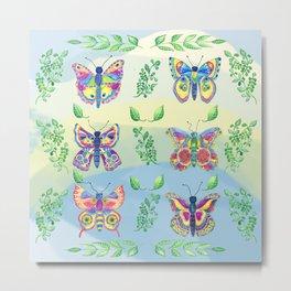 Frolicking Butterflies Metal Print