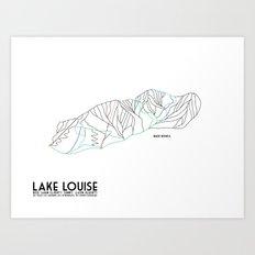 Lake Louise, Canada - Back - Minimalist Winter Trail Art Art Print