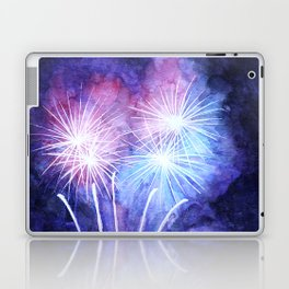 Blue and pink fireworks Laptop & iPad Skin