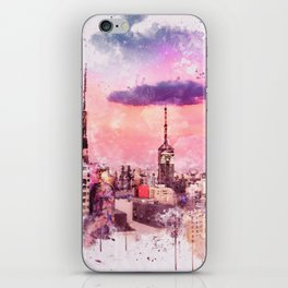 Sao Paulo - WaterColor 003C iPhone Skin