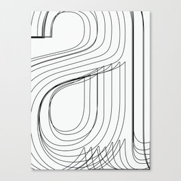 Helvetica Condensed 002 Canvas Print