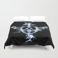 triforce Duvet Covers featuring Water Triforce by bivisual