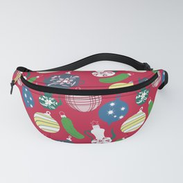 Vintage ornaments- red Fanny Pack