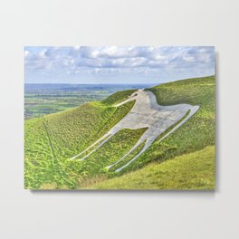 The White Horse. Metal Print