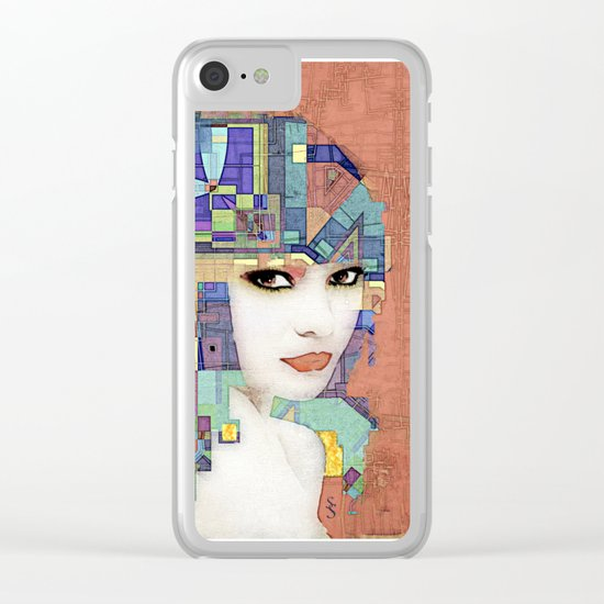 Nouveau Girl 2 (aged finish) Clear iPhone Case