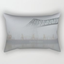 Louisiana Avenue Street Tile New Orleans Vintage Sign Old Letters Word Art French Quarter Typography Rectangular Pillow