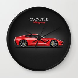 The Red Vette Wall Clock