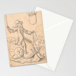 Shield King: A Man Astride a Snail. Johannes Brandenberg Stationery Cards