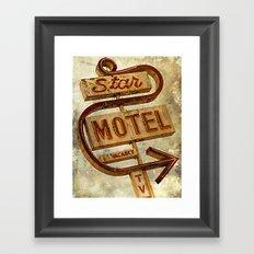 Vintage Grunge Motel Sign Framed Art Print