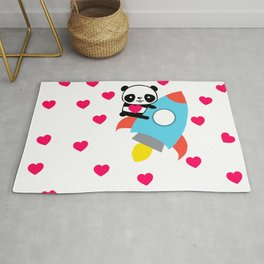 Rocketpanda in Love Rug