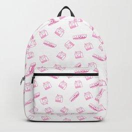 Milk Carton Cat Illustration Backpack