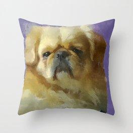Lion Dog Throw Pillow