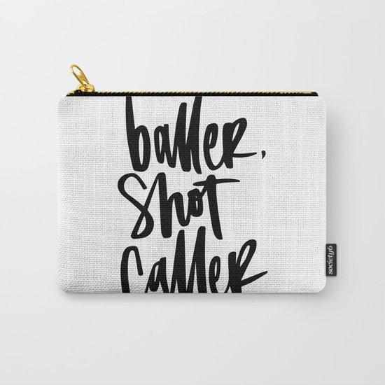 Baller, Shot Caller Hand Lettering Carry-All Pouch