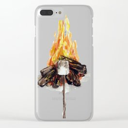 Campfire, Smore, Marshmallow Roasting, Camping Clear iPhone Case