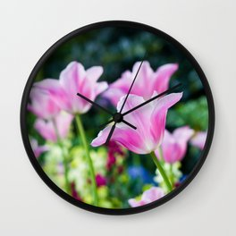 Flowers alive Wall Clock