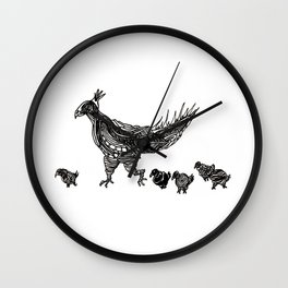 Mother Hen Wall Clock