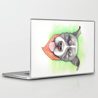 stevie nicks Laptop & iPad Skins featuring Pitbull - Love is blind - Stevie the wonder dog by PaperTigress