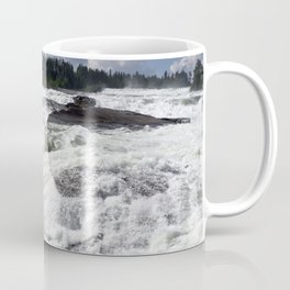 waterfall Storforsen in the north of Sweden Coffee Mug
