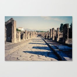 Faded Memories: The Streets of Pompeii Canvas Print